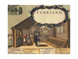 Detail Representing Paper Industry of City of Fabriano Giclee Print by Georg Braun