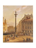 The Old Square Giclee Print by Marcin Zaleski