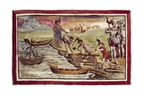 Indians Building Boats under Supervision of Spanish Taken from History of Indies Giclee Print by Diego Duran