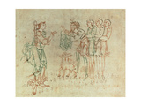 Miniature from the Junius Manuscript or Collection of Anglo Saxon Poetry by Caedmon Giclee Print