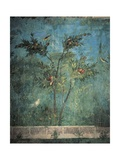 Fresco Depicting Garden with Fruit Trees and Birds Giclee Print