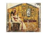 Tomb of Nefertari, Detail of Antechamber Frescoes, Queen Nefertari Playing Senet Giclée-tryk