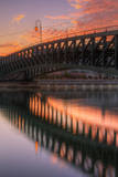 Lake Bridge Reflection, Lake Merritt, Oakland Photographic Print by Vincent James