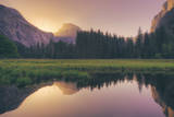 Magical Morning Light at Half Dome - Yosemite Valley Photographic Print by Vincent James