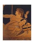 Lekythos Depicting Theseus and Ariadne Being Woken Up by Athena Giclee Print