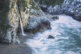 Scene at Waterfall Beach, McWay Falls, Big Sur Photographic Print by Vincent James