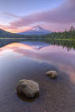 Mount Hood at Beautiful Trillium Lake Photographic Print by Vincent James