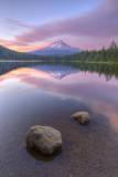 Mount Hood at Beautiful Trillium Lake Photographic Print by Vincent James