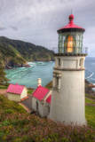 Scene at Haceta Head Lighthouse, Oregon Coast Photographic Print by Vincent James