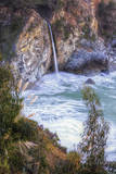 Waterfall Beach Detail at Big Sur, McWay Falls Photographic Print by Vincent James
