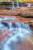 Water Cascades at The Subway, Zion National Park Photographic Print by Vincent James