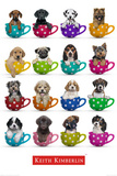 Puppies Mugs Print by Keith Kimberlin