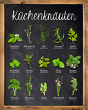 Küchenkräuter Posters