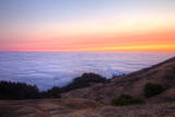 Above the Fog Line at Sunset, Mount Tamalpais, Marin County Photographic Print by Vincent James