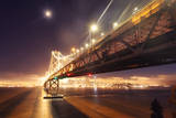San Francisco Bay Bridge and Moonlight Glow Photographic Print by Vincent James