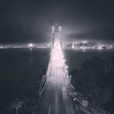 Night Glow Into Fog City, Bay Bridge, San Francisco Photographic Print by Vincent James