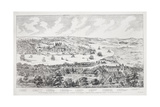 Panorama of London, Westminster and Southwark, Illustration from 'Maps of Old London', 1543 Giclee Print by Anthonis van den Wyngaerde