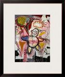 Donut Revenge Framed Giclee Print by Jean-Michel Basquiat