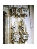 Margaret of Burgundy and St Catherine of Alexandria Giclee Print