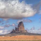 Cloudscape at Mount Agathla, Monument Valley, Arizona Photographic Print by Vincent James