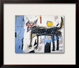 Part Wolf Framed Giclee Print by Jean-Michel Basquiat