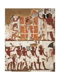 Tomb of Nebamon and Ipouky, Detail of Frescoes Depicting Funeral Cortege and Widow Giclee Print