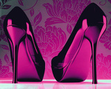 Shoes - Purple Print