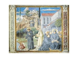 St. Augustine Giving Rule to Monks and Talking to Child Jesus About Holy Trinity Giclée-tryk af Benozzo Gozzoli