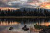 Moody Morning Sky at Sparks Lake, Central Oregon Photographic Print by Vincent James
