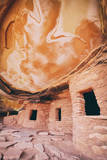 Vertical View at Fallen Roof Ruins, Anasazi, Southern Utah Photographic Print by Vincent James
