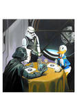 Donald Duck Meets Star Wars Print by Michael Loeb