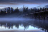 Pre Dawn By The Fishing Bridge, Yellowstone River, Wyoming Photographic Print by Vincent James