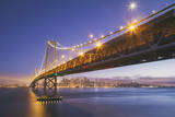 Blur Hour Cityscape, San Francisco Bay Bridge Photographic Print by Vincent James