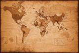 Weltkarte - Antik Kunstdrucke