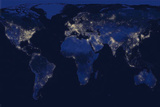 The World at Night Poster