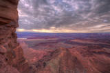 Standing at the Edge of Dead Horse Point, Southern Utah Photographic Print by Vincent James