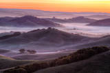 Misty Morning Hills, Petaluma California Photographic Print by Vincent James