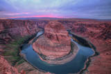 Colorful Sunset Sky at Horseshoe Bend, Page, Arizona Photographic Print by Vincent James