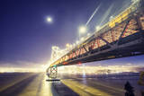 Moonlight and Bay Bridge Glow, San Francisco Photographic Print by Vincent James
