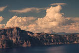 Craterside, Clouds and Peak, Crater Lake, Oregon Photographic Print by Vincent James