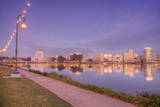Sunset Walk at Lake Merritt, Oakland, California Photographic Print by Vincent James