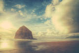 Dreamy Scene at Haystack Rock, Cannon Beach, Oregon Coast Photographic Print by Vincent James