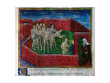 Miniature Depicting Dido's Showing Aeneas the Souls of the Unborn at the Champs Elysees. Aeneid Giclee Print