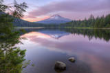 Mount Hood Reflected in Beautiful Trillium Lake Photographic Print by Vincent James