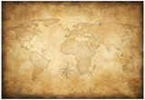 Aged Treasure Map Background Prints