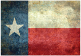 Bandiera dello stato del Texas Stampa