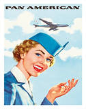 Pan Am American Stewardess Giclee Print
