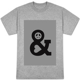 Peace and Love Mono T-Shirt