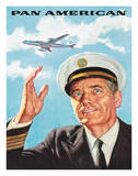 Pan Am American Captain Giclee Print