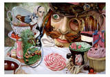 Alice in Wonderland (Tea party) Prints by Leslie Ditto
